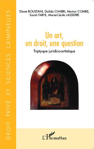 Couverture Un art, un droit, une question