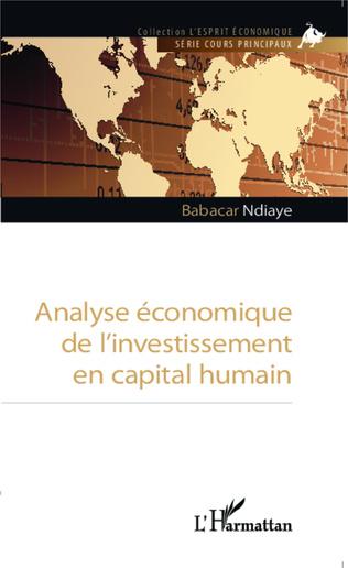 Couverture Analyse économique de l'investissement en capital humain
