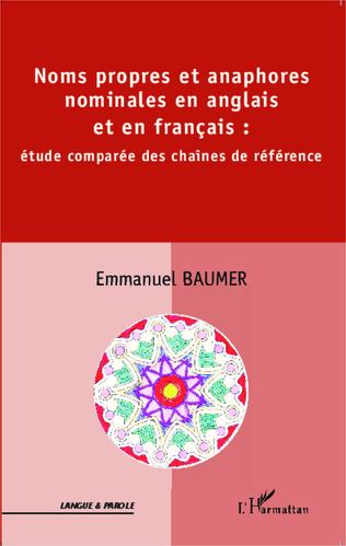 Couverture Noms propres et anaphores nominales en anglais et en français :