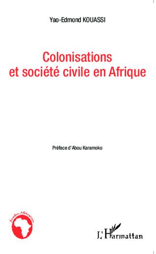 Couverture Colonisations et société civile en Afrique