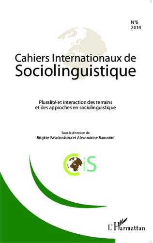 Couverture Cahiers Internationaux de Sociolinguistique