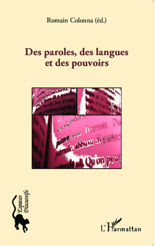 Couverture Des paroles, des langues et des pouvoirs