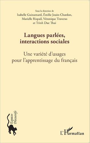 Couverture Langues parlées, interactions sociales