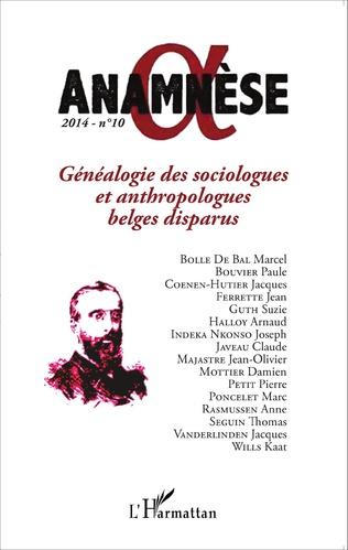 Couverture Généalogie des sociologues et anthropologues belges disparus