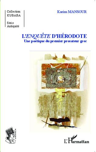 Couverture L'<em>enquête</em> d'Hérodote