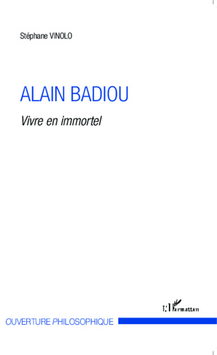 Couverture Alain Badiou
