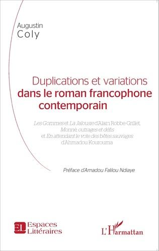 Couverture Duplications et variations dans le roman francophone contemporain