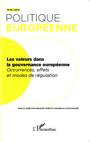 Couverture Introduction Legitimisation and regulation of and through values