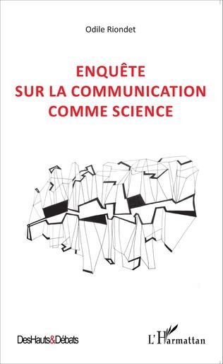 Couverture Enquête sur la communication comme science