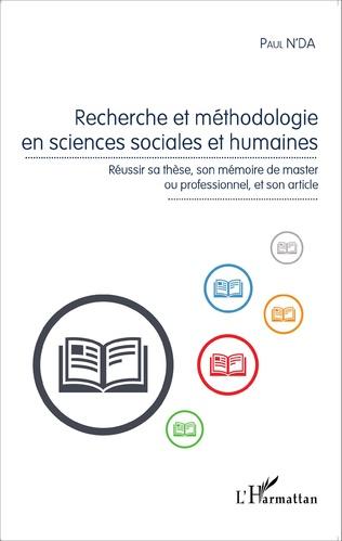 Couverture Recherche et méthodologie en sciences sociales et humaines
