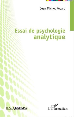 Couverture Essai de psychologie analytique