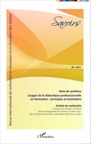 Couverture Usages de la didactique professionnelle en formation : principes et évolutions