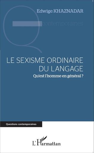 Couverture Le sexisme ordinaire du langage