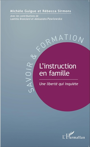 Couverture L'instruction en famille