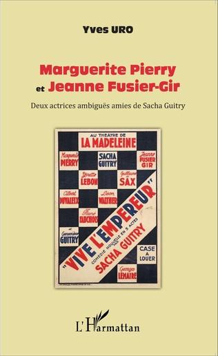 Couverture Marguerite Pierry et Jeanne Fusier-Gir
