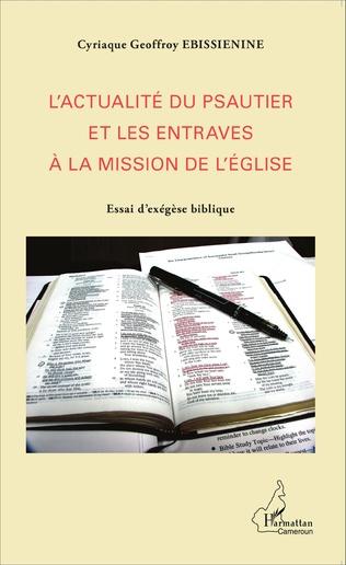 Couverture L'actualité du psautier et les entraves à la mission de l'Eglise