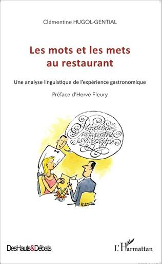 Couverture Les mots et les mets au restaurant
