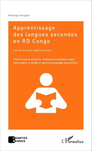 Couverture Apprentissage des langues secondes en RD Congo  suivi de la version anglaise du texte