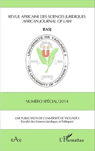 Couverture Revue Africaine des Sciences Juridiques RASJ