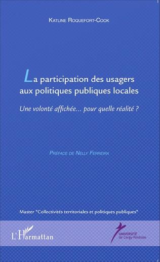Couverture La participation des usagers aux politiques publiques locales