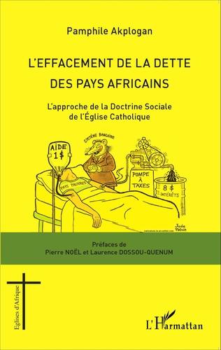 Couverture L'effacement de la dette des pays africains