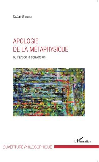 Couverture Apologie de la métaphysique