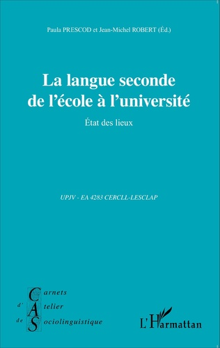 Couverture La langue seconde de l'école à l'université