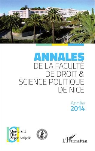 Couverture Annales de la faculté de droit et science politique de Nice