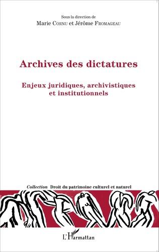 Couverture Archives des dictatures