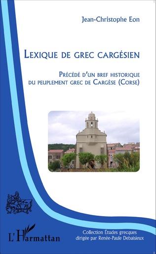 Couverture Lexique de grec cargésien