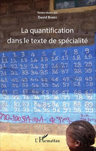 Couverture La quantification dans le texte de spécialité
