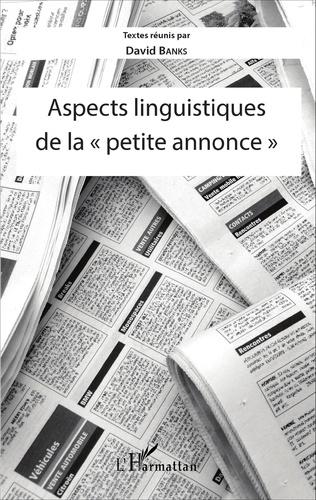 Couverture Aspects linguistiques de la
