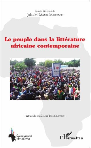 Couverture Le peuple dans la littérature africaine contemporaine
