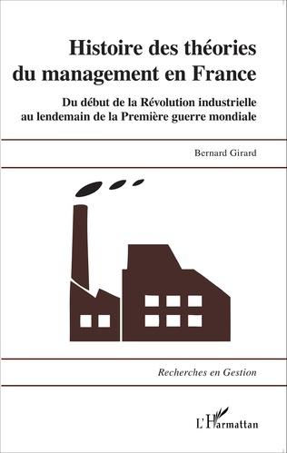 Couverture Histoire des théories du management en France
