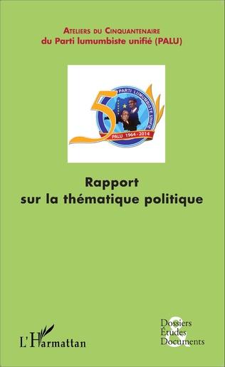 Couverture Rapport sur la thématique politique