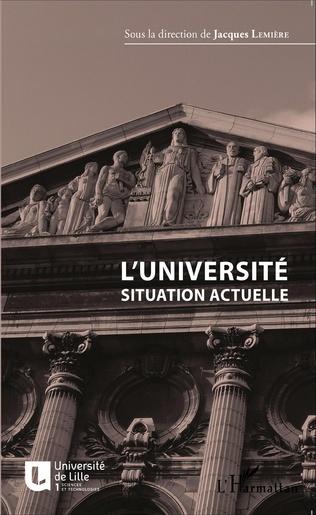 Couverture L'université situation actuelle