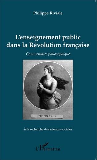 Couverture L'enseignement public dans la Révolution française