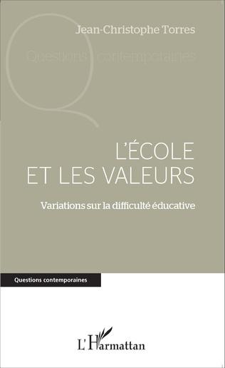 Couverture L'école et les valeurs