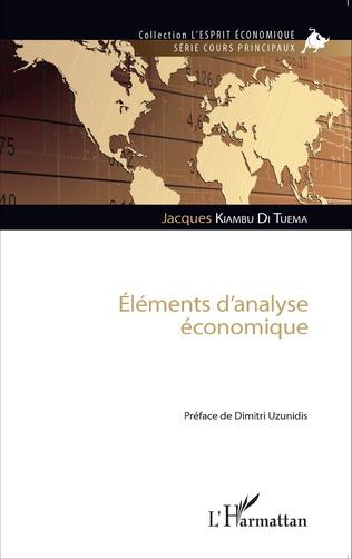 Couverture Eléments d'analyse économique