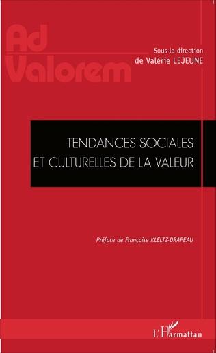 Couverture Tendances sociales et culturelles de la valeur