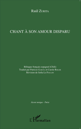 Couverture Chant à son amour disparu