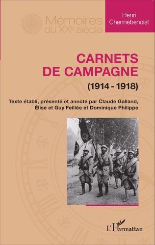 Couverture Carnets de campagne (1914-1918)