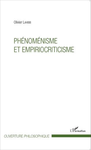 Couverture Phénoménisme et empiriocriticisme