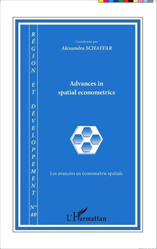 Couverture Advances in spatial econometrics / Les avancées en économétrie spatiale