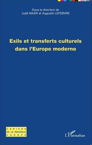 Couverture Exils et transferts culturels dans l'Europe moderne