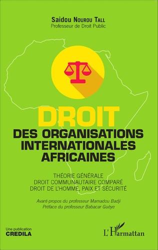 Couverture Droit des organisations internationales africaines