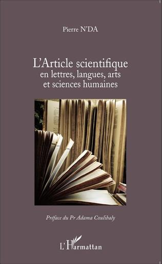 Couverture L'article scientifique en lettres, langues, arts et sciences humaines