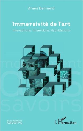 Couverture Immersivité de l'art