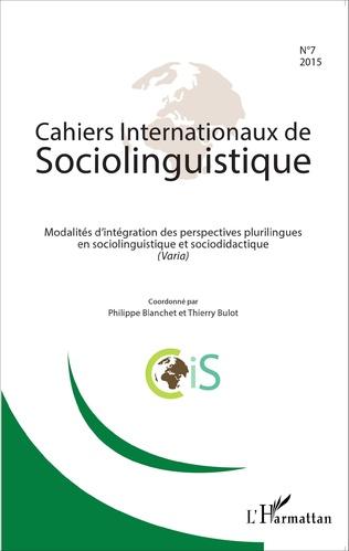 Couverture Modalités d'intégration des perspectives plurilingues en sociolinguistique et sociodidactique (Varia)
