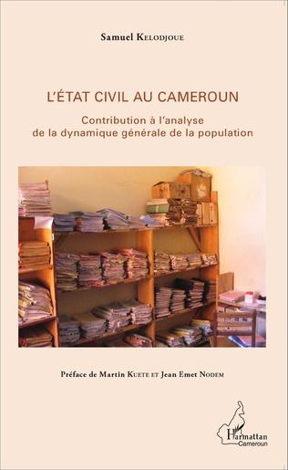 Couverture L'état civil au Cameroun